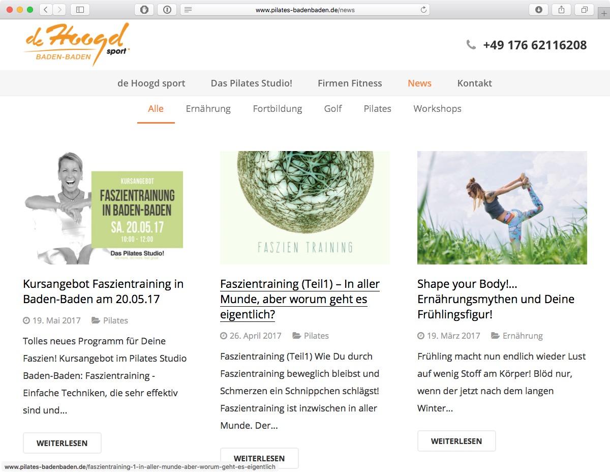 Pilates Baden-Baden - News-Bereich