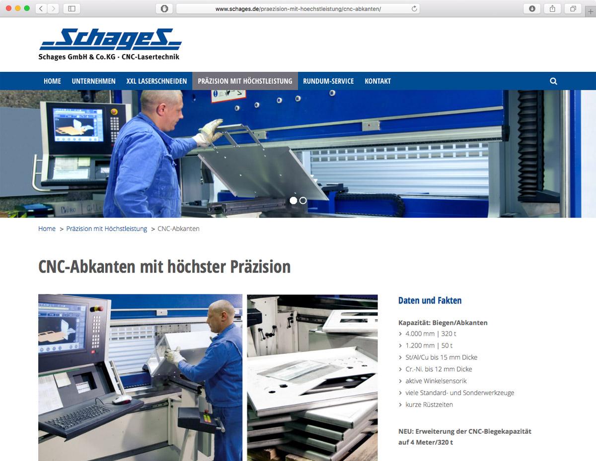 Schages GmbH und Co. KG - CNC-Abkanten